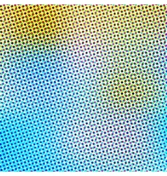 Abstract background in color halftone effect vector image