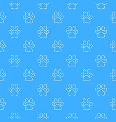Blue footprint seamless pattern vector