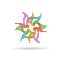 Buisness logo - colorful abstract flower vector image