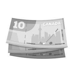Canadian dollar canada single icon in monochrome vector