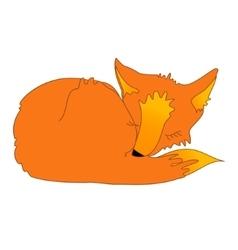 cartoon sleeping fox vector image