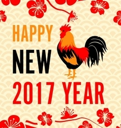 Chinese new year background with roosters vector
