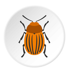 Colorado beetle icon circle vector