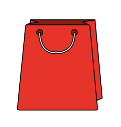 colorful realistic image bag for shopping vector image vector image