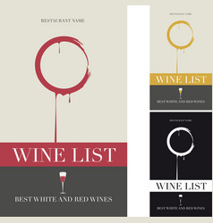 cover for the wine menu vector image