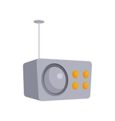 Crey retro style radio receiver icon cartoon style vector image