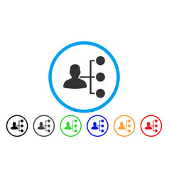 Distributor rounded icon vector