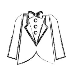 Elegant masculine suit clothes icon vector
