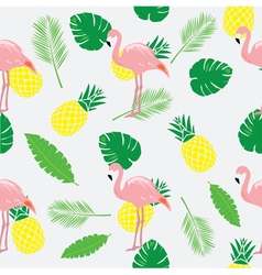Flamingos pink seamless vector