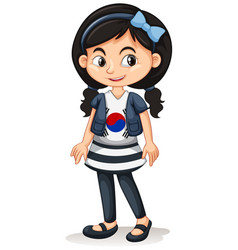 Girl from south korea standing vector