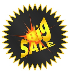 Label sticker explosion with a big sale sign vector