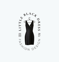 Little black dress abstract sign symbol vector