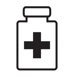 Medical bottle flat icon medical bottle sign vector