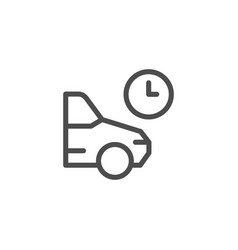 parking time line icon vector image vector image