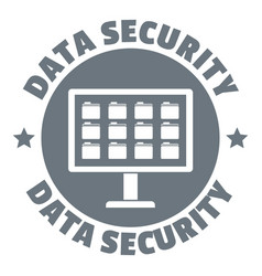 Pc data security logo simple style vector