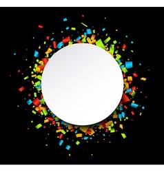 Round festive background vector