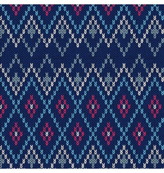 Seamless Ornamental Male Style Knitted Pattern vector image
