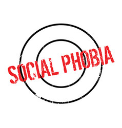 Social phobia rubber stamp vector