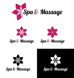 Spa massage logo template vector