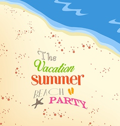 Vacation summer beach party vector
