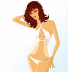 white bikini vector image