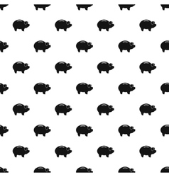 Piggy bank pattern simple style vector image
