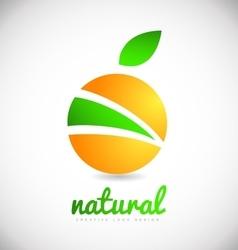 Fruit company logo icon design vector