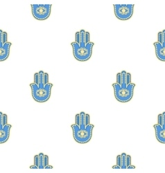 Hamsa icon in cartoon style isolated on white vector