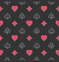 Card suits dark pattern vector