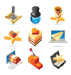 Icon concepts for media vector
