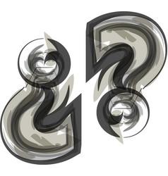 Abstract question mark symbol vector