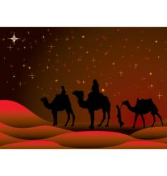 Christmas journey vector