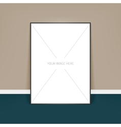 Template of frame with poster placed in vector