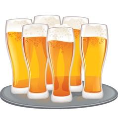 Beer goblets vector image