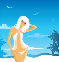 Beach babe vector