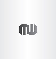 Letter m and w logo combination logotype vector