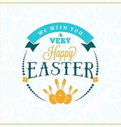 Happy easter vintage holiday badge template for vector