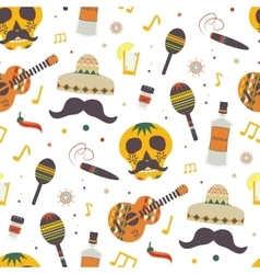 Cinco de mayo seamless pattern with vector