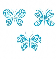 Butterfly tattoo vector