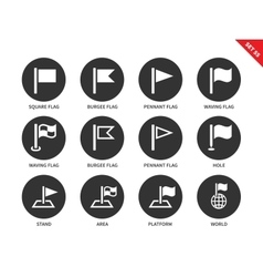 Flags icons on white background vector