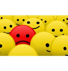 alone in the crowd vector image vector image