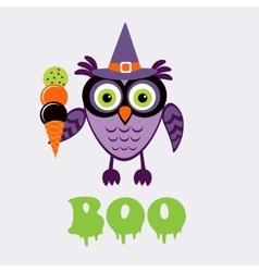 An of cute halloween owl vector