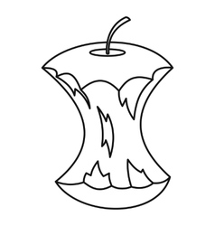 Apple core icon outline style vector image vector image
