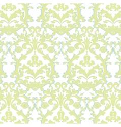 Baroque floral damask ornament pattern vector