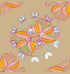 Classical september embroidery autumn leaves vector