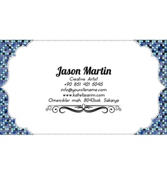 Coloful abstract business card vector