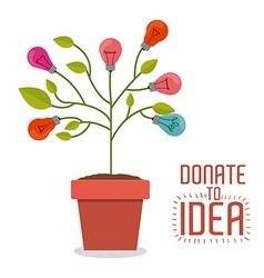 Donate to idea design vector