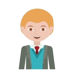 Half body blond man with formal suit and business vector