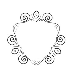 Hand drawn frame element vector