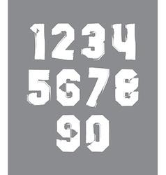 Handwritten contemporary digit set doddle vector